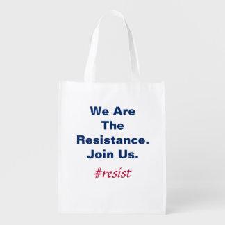 Bolsa De La Compra Reutilizable Democracia de la ayuda somos la resistencia nos