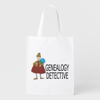 Bolsa De La Compra Reutilizable Detective de la genealogía