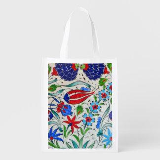 Bolsa De La Compra Reutilizable Diseño floral turco