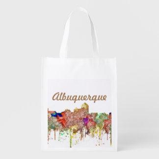 Bolsa De La Compra Reutilizable Faded Glory del SG del horizonte de Albuquerque