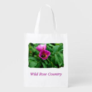 Bolsa De La Compra Reutilizable Fieramente rosa Country