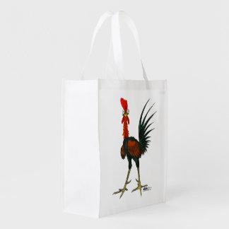 Bolsa De La Compra Reutilizable Gallo loco