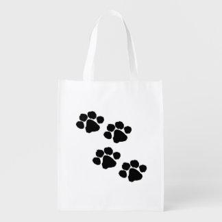 Bolsa De La Compra Reutilizable Impresiones de la pata de los mascotas