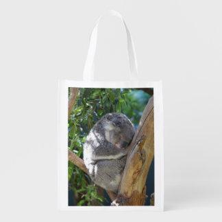 Bolsa De La Compra Reutilizable Koala soñolienta