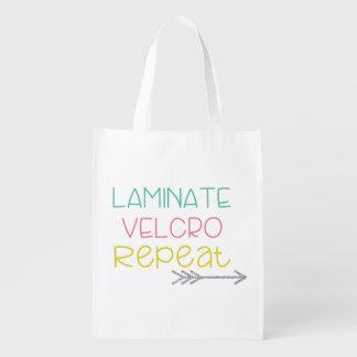 Bolsa De La Compra Reutilizable Lamina. Velcro. Repetición. Tote 2
