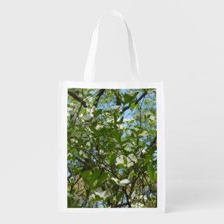Bolsa De La Compra Reutilizable Las ramas del Dogwood florecen los árboles de la