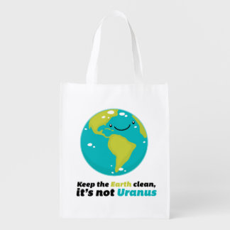 Bolsa De La Compra Reutilizable Mantenga la tierra limpia