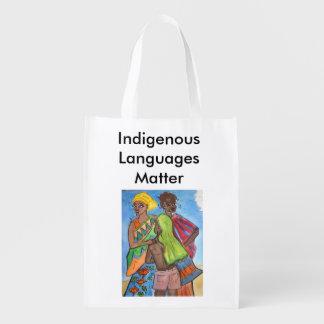 Bolsa De La Compra Reutilizable Materia de las idiomas indígenas
