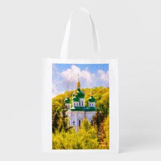 Bolsa De La Compra Reutilizable Monasterio de Vydubitsky. Kiev, Ucrania