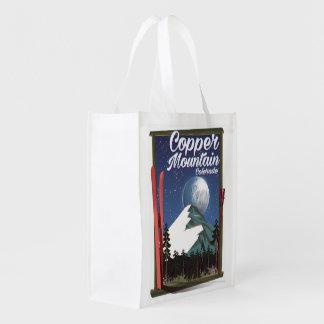 Bolsa De La Compra Reutilizable Montaña del cobre del poster del viaje de Colorado