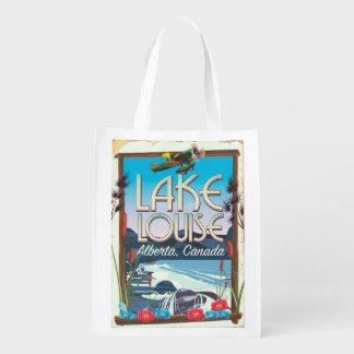 Bolsa De La Compra Reutilizable Poster del viaje de Lake Louise, Alberta Canadá