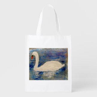Bolsa De La Compra Reutilizable Reflexiones del cisne