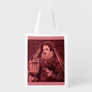 Bolsa De La Compra Reutilizable Reina Elizabeth I en rosa