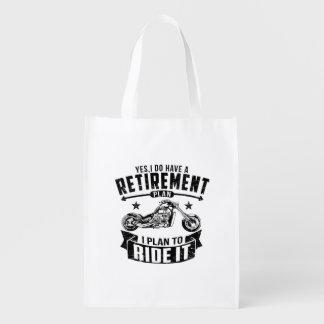 Bolsa De La Compra Reutilizable Retiro del motorista