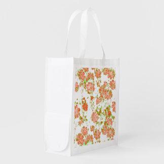 Bolsa De La Compra Reutilizable sueños florales 12 D