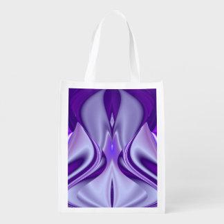Bolsa De La Compra Reutilizable Sueños púrpuras de la flor