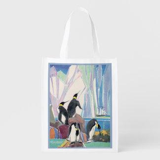 Bolsa De La Compra Reutilizable tierra del pingüino