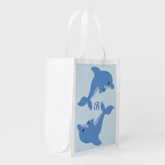 Bolsa De La Compra Reutilizable Un delfín feliz lindo