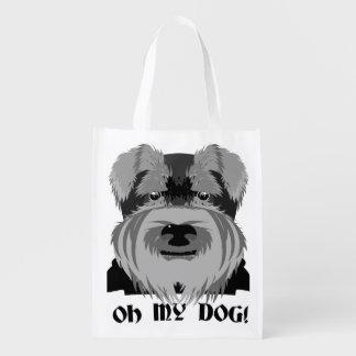 Bolsa De La Compra Schnauzer lindo oh mi perro