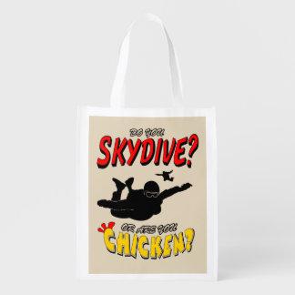 Bolsa De La Compra ¿Skydive o pollo? (negro)