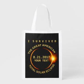 Bolsa De La Compra Sobreviví el eclipse solar total 8.21.2017 los