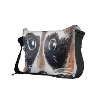 Bolsa De Mensajería Arte lindo de la acuarela del mapache