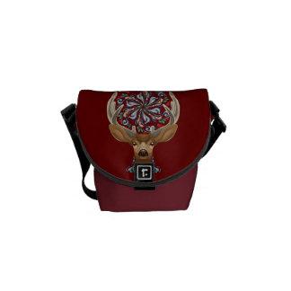 Bolsa De Mensajería Ciervos lindos mágicos del bosque con símbolo de