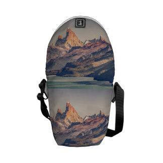 Bolsa De Mensajería Fitz Roy y montañas de Poincenot los Andes -