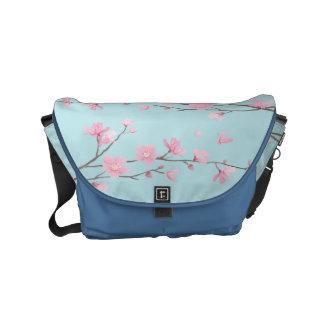 Bolsa De Mensajeria Flor de cerezo - azul de cielo