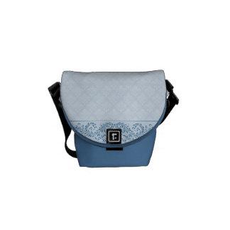 Bolsa De Mensajeria La bolsa de mensajero - damasco azul helado