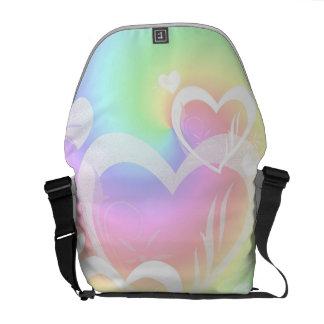 Bolsa De Mensajeria La bolsa de mensajero de los corazones del arco