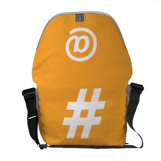 Bolsa De Mensajería La bolsa de mensajero del naranja de Hipstar