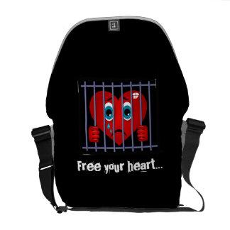 Bolsa De Mensajeria Libere la su bolsa de mensajero del corazón