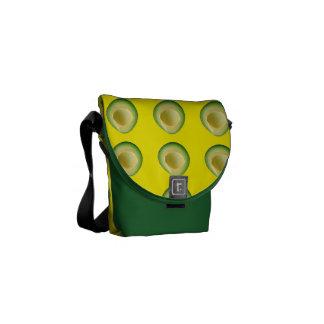 Bolsa De Mensajería Locura amarilla verde del aguacate