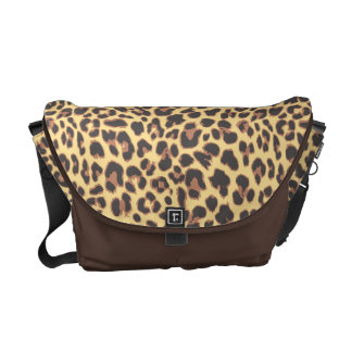 Bolsa De Mensajeria Modelos de la piel animal del estampado leopardo