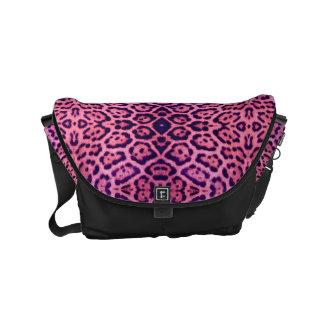 Bolsa De Mensajeria Piel rosada y púrpura de Jaguar