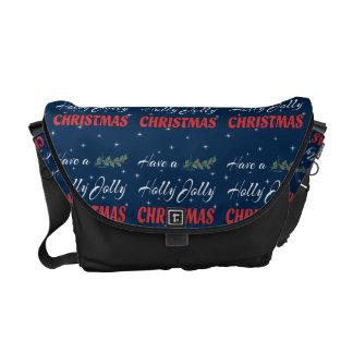 Bolsa De Mensajería Tenga navidad alegre de un acebo