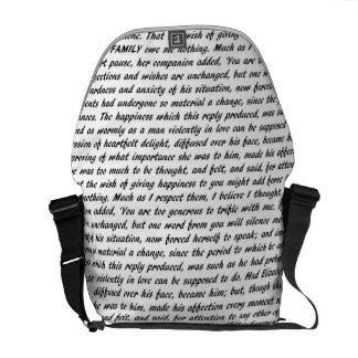 Bolsa De Mensajeria Texto del orgullo y del perjuicio