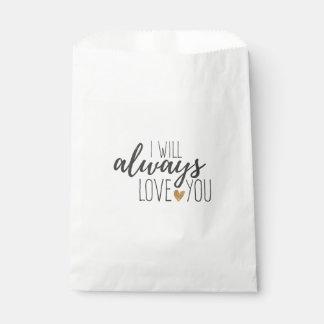 Bolsa De Papel Amor usted cita la ducha nupcial del boda blanco