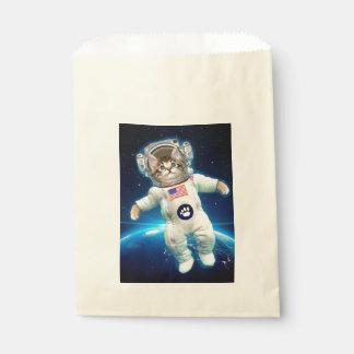Bolsa De Papel Astronauta del gato - gato del espacio - amante