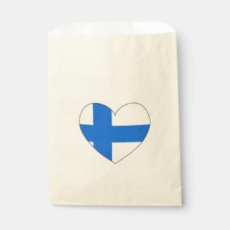 Bolsa De Papel Bandera de Finlandia simple