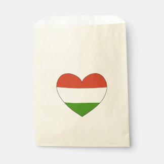 Bolsa De Papel Bandera de Hungría simple