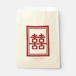 Bolsa De Papel Bolso chino del favor del boda de la felicidad
