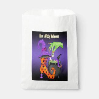 Bolsa De Papel Bolso del favor de Witchy Halloween