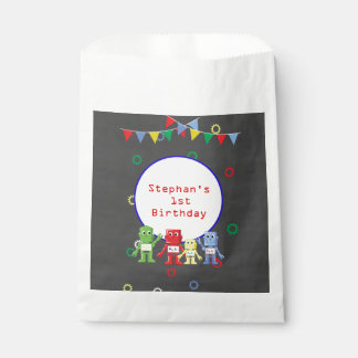 Bolsa De Papel Bolsos del favor de la fiesta de cumpleaños de los