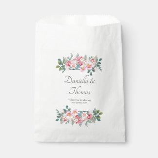 Bolsa De Papel Bolsos elegantes del favor del boda del jardín