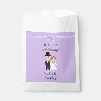 Bolsa De Papel Bolsos púrpuras personalizados del caramelo de la
