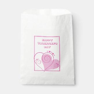 Bolsa De Papel Bolsos rosados de encargo del favor de los