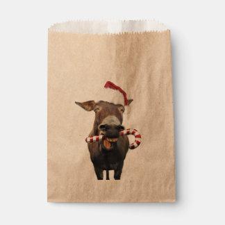 Bolsa De Papel Burro del navidad - burro de santa - burro santa