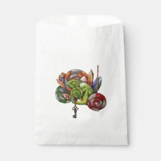Bolsa De Papel camaleón y cristales